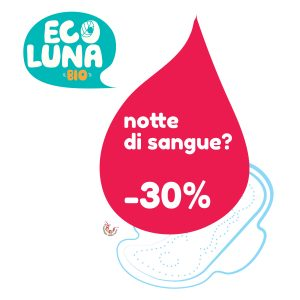 Ecoluna, assorbenti biologici e biodegradabili in sconto al -30%
