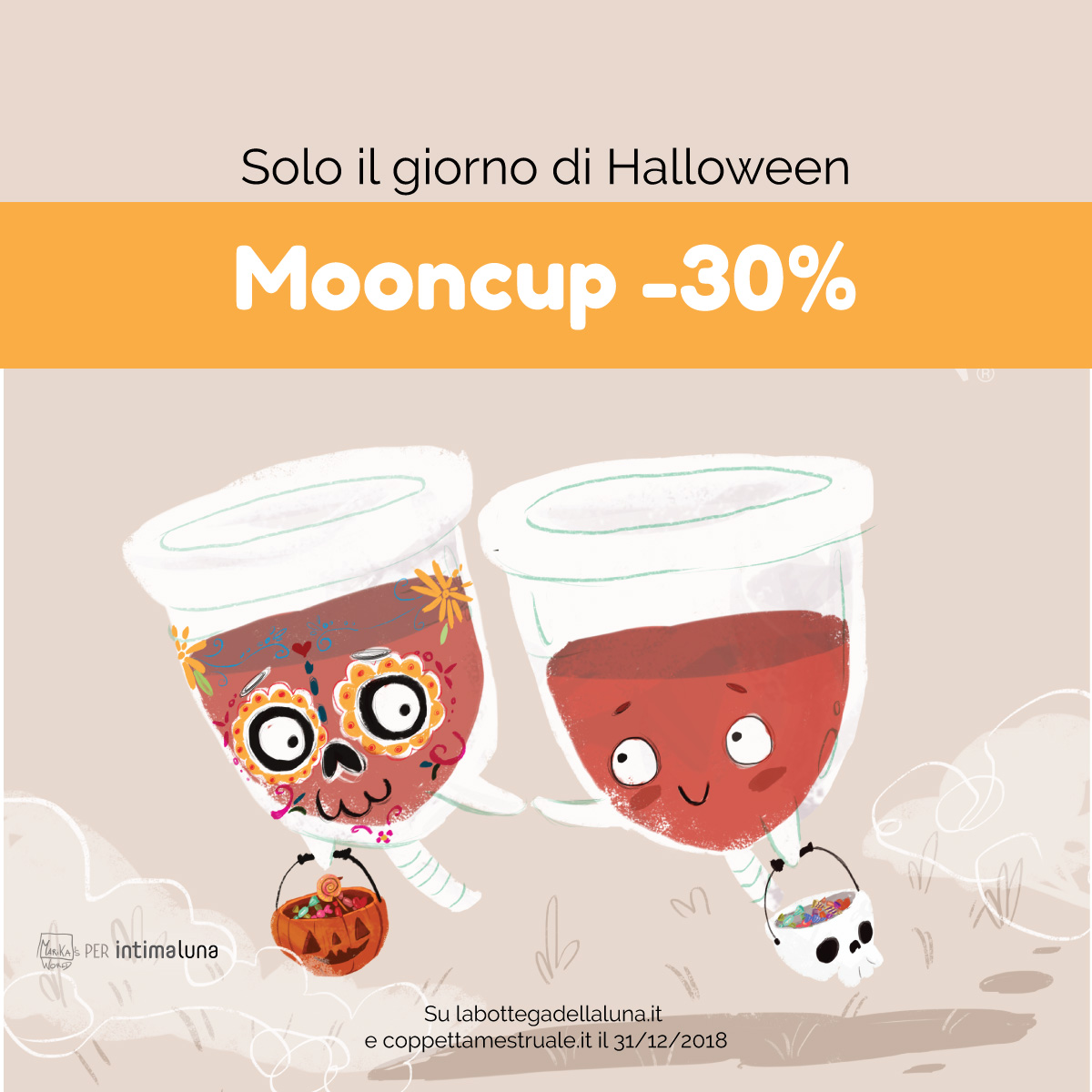 Mooncup in sconto solo ad Halloween -30%